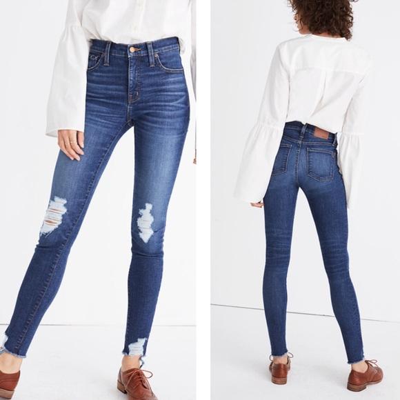 "Madewell Denim - Madewell | 9"" High Rise Skinny Destructed Jeans"